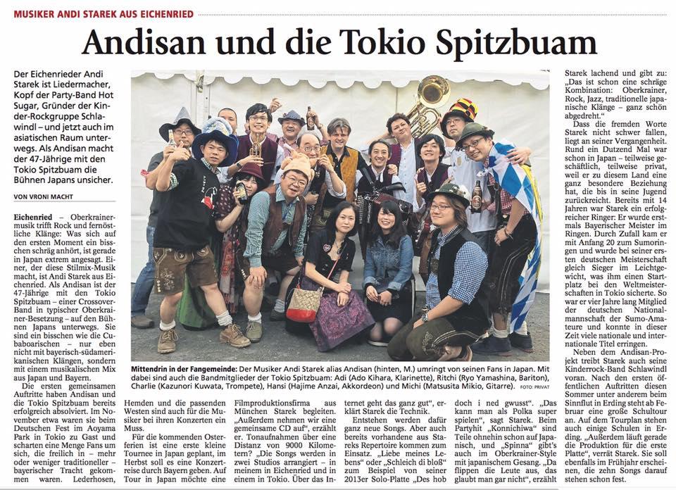 Pressebericht Tokio Spitzbuam Münchner Merkur
